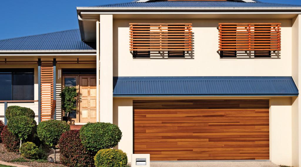 CHI plank garage door