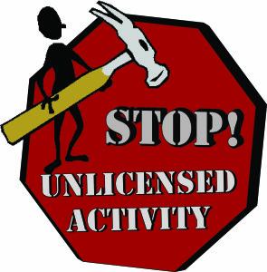 Unlicensed Activity Logo